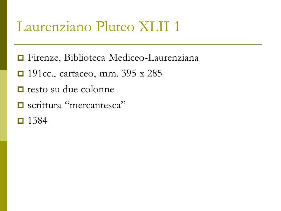 Laurenziano Pluteo XLII 1