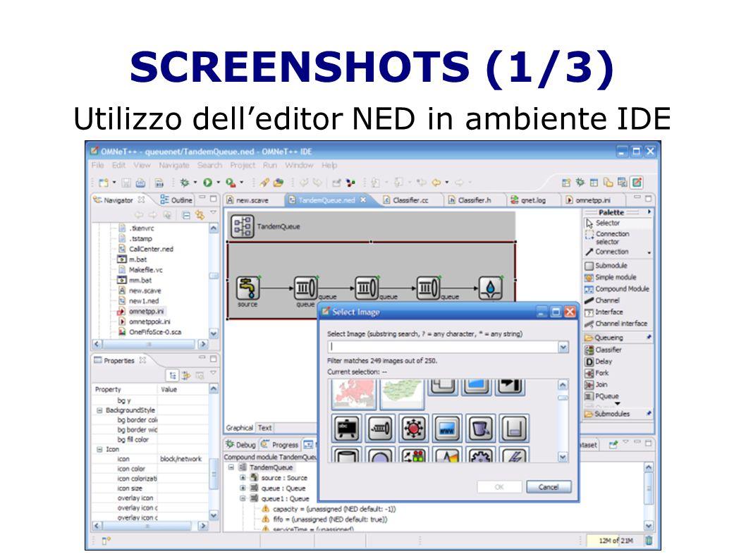 Utilizzo dell'editor NED in ambiente IDE