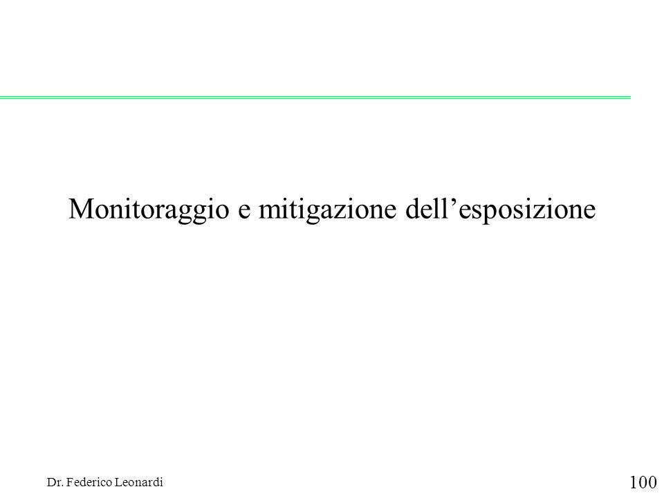 Monitoraggio e mitigazione dell'esposizione