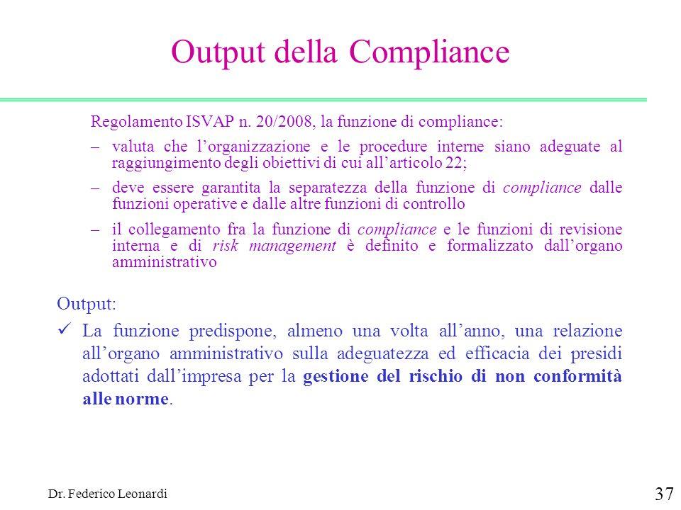 Output della Compliance