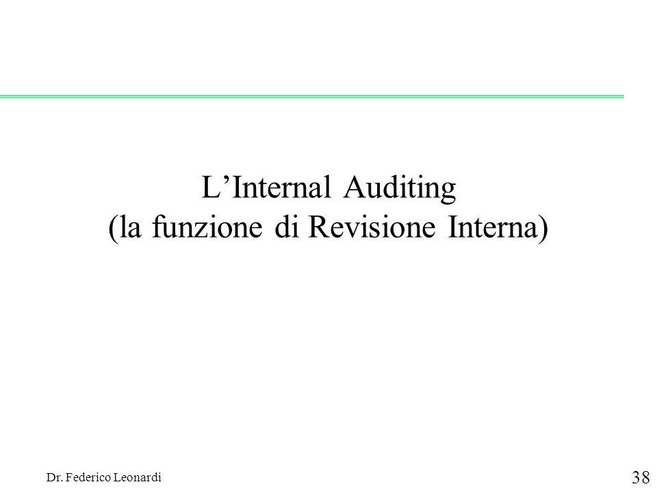 L'Internal Auditing (la funzione di Revisione Interna)
