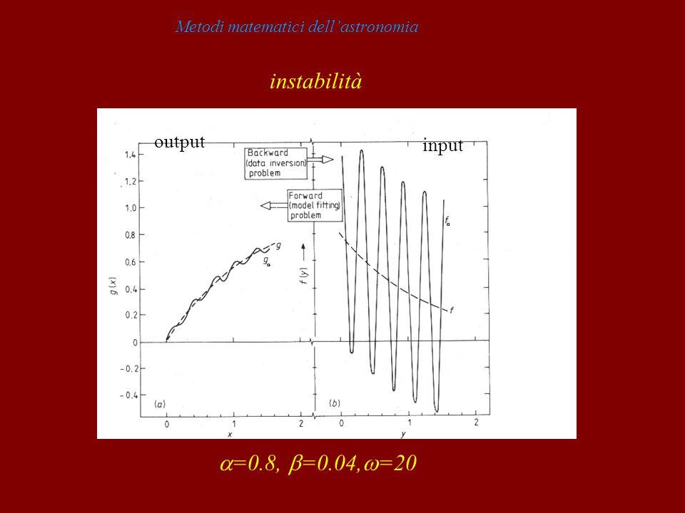 Metodi matematici dell'astronomiainstabilità
