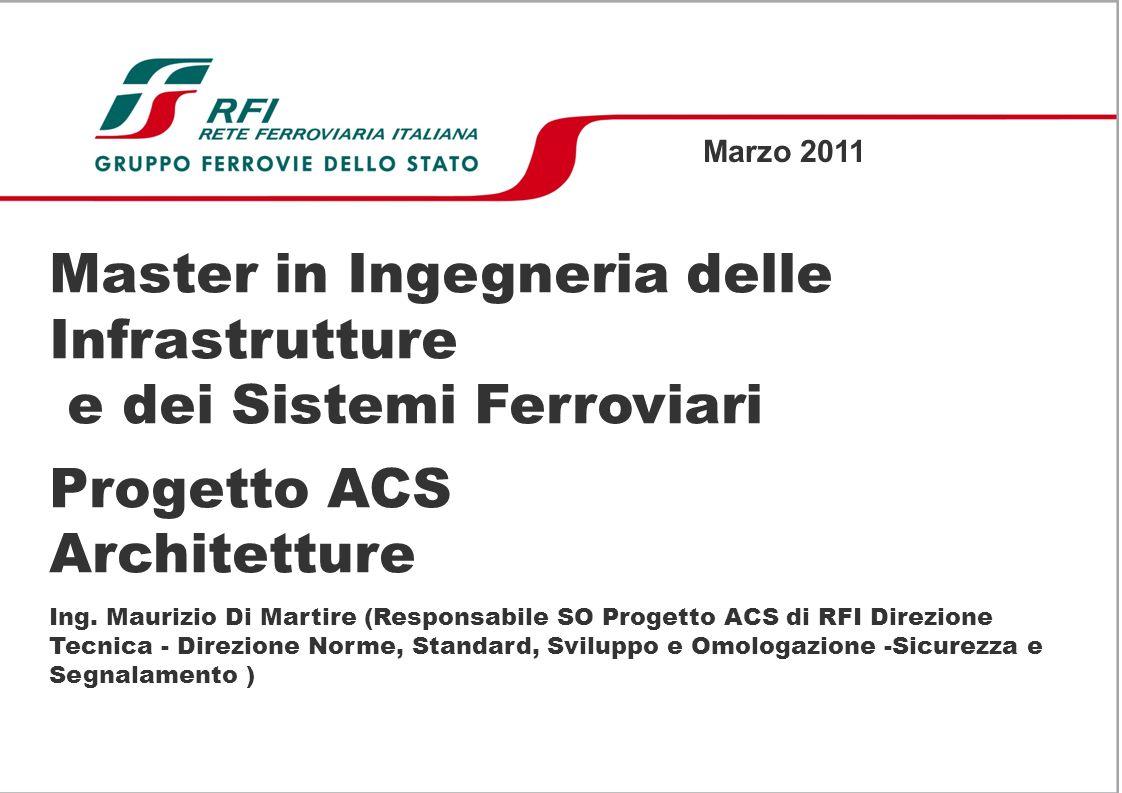 Master in Ingegneria delle Infrastrutture e dei Sistemi Ferroviari