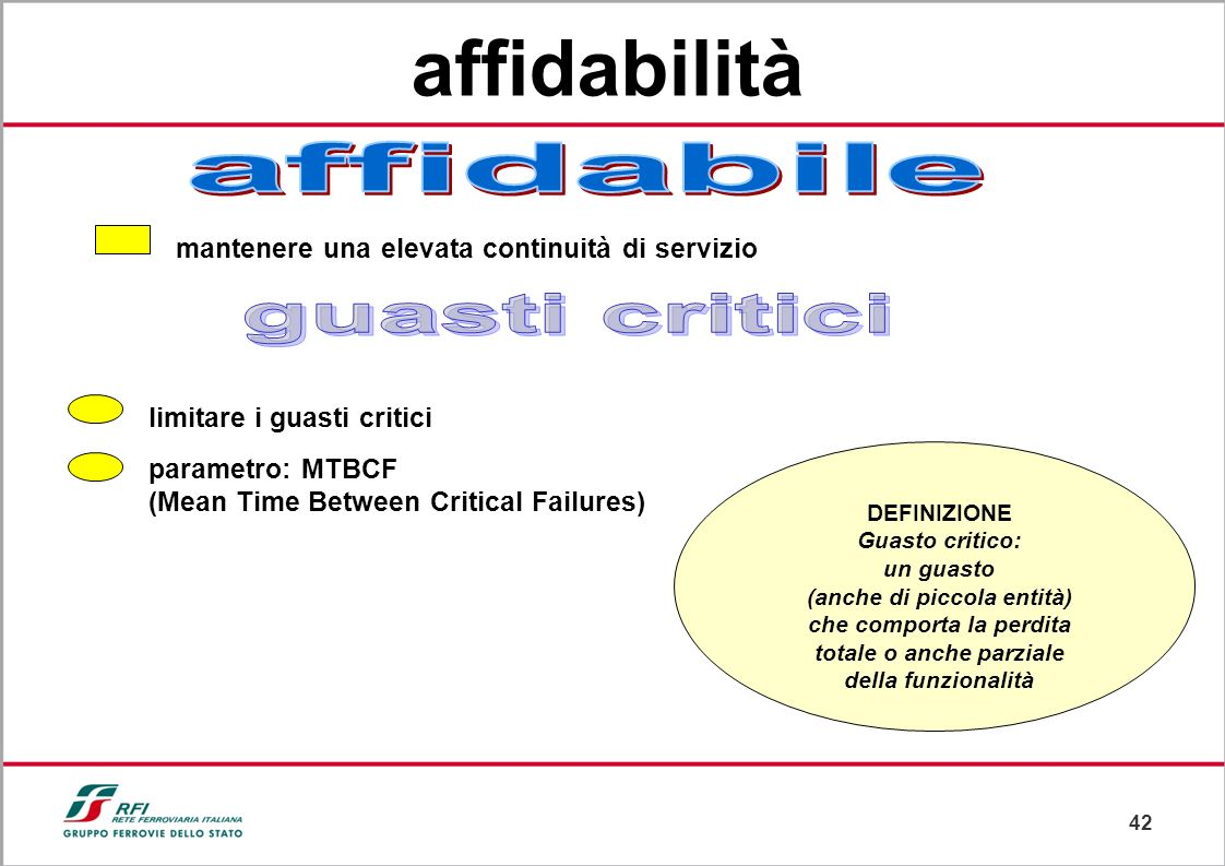 affidabilità guasti critici