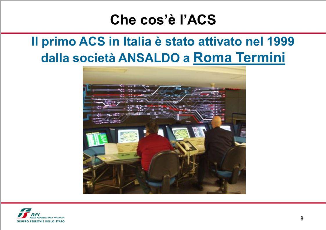 Che cos'è l'ACS Il primo ACS in Italia è stato attivato nel 1999 dalla società ANSALDO a Roma Termini.