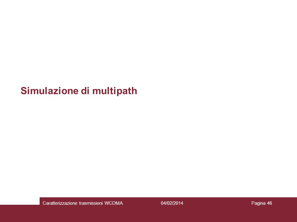 Simulazione di multipath