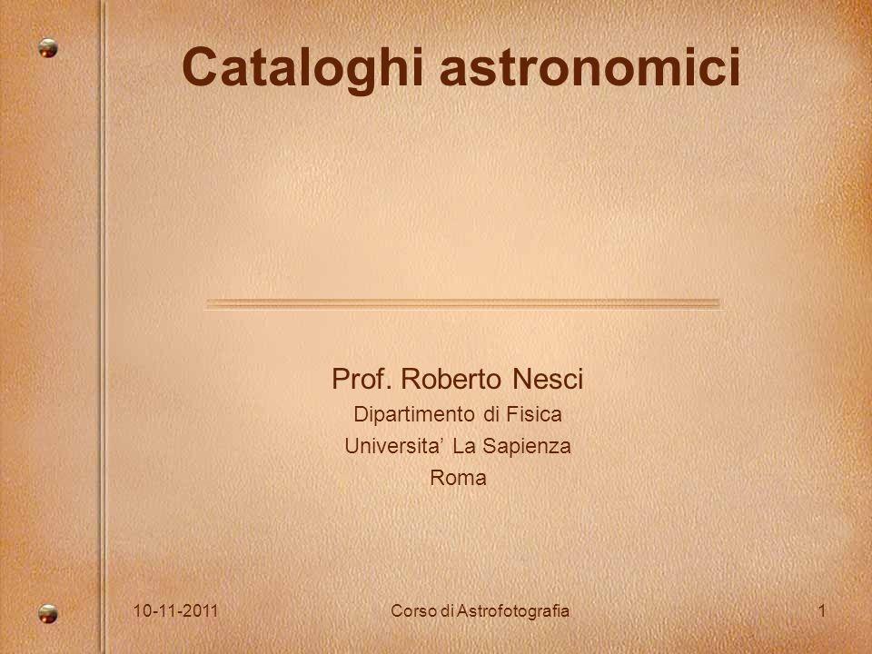 Cataloghi astronomici