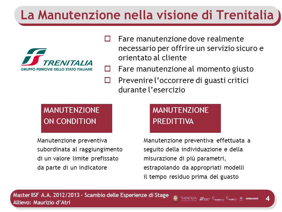 La Manutenzione nella visione di Trenitalia
