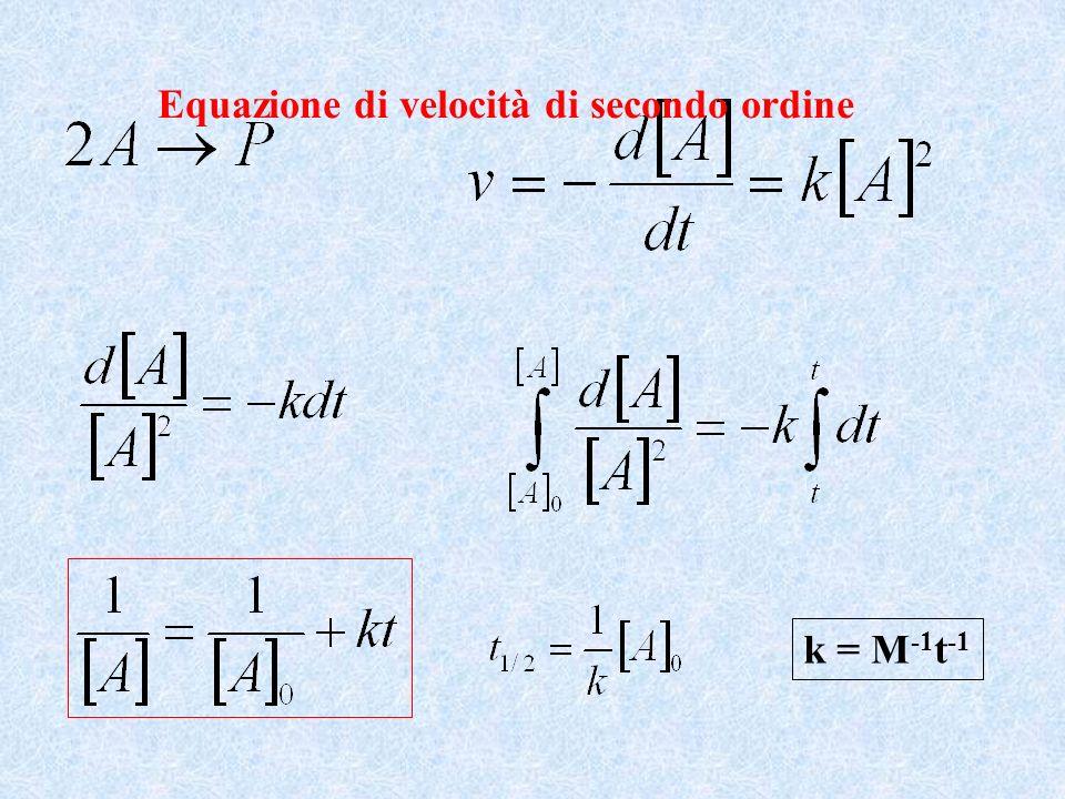 Equazione di velocità di secondo ordine