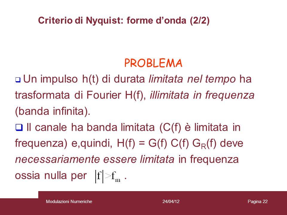 Criterio di Nyquist: forme d'onda (2/2)
