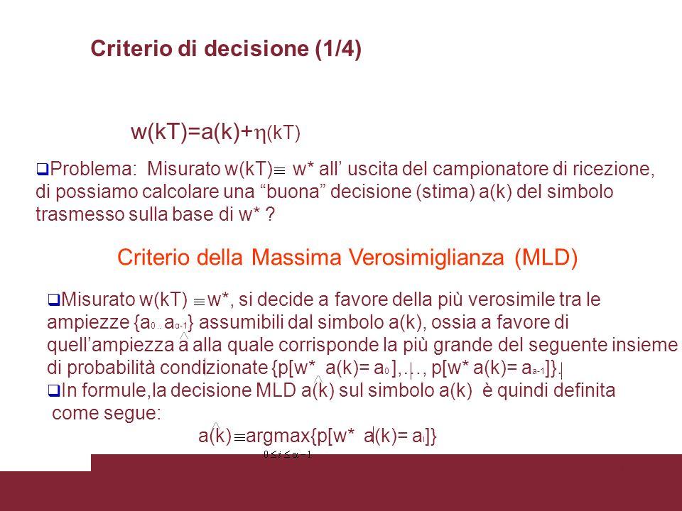 Criterio di decisione (1/4)