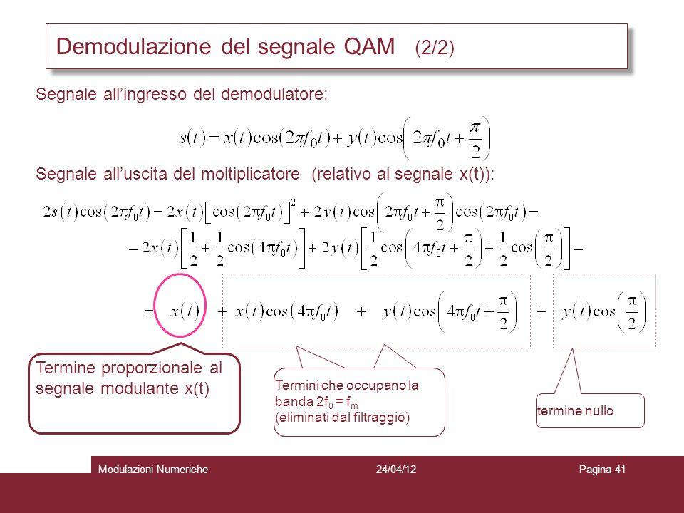 Demodulazione del segnale QAM (2/2)
