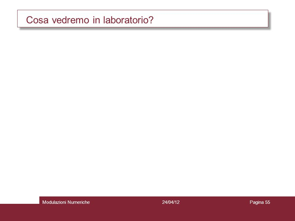 Cosa vedremo in laboratorio