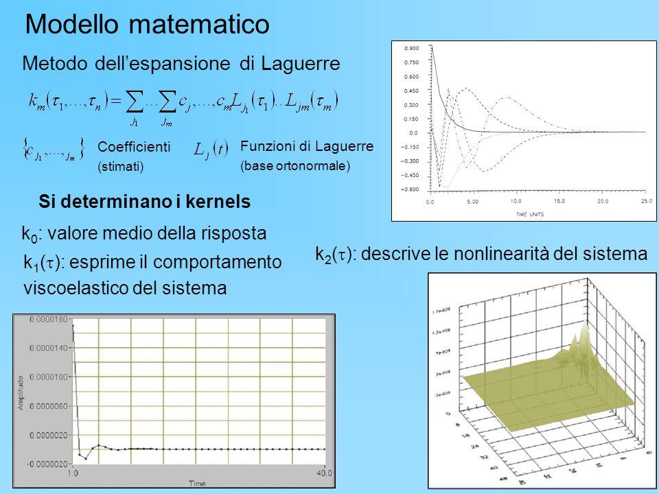 Modello matematico Metodo dell'espansione di Laguerre