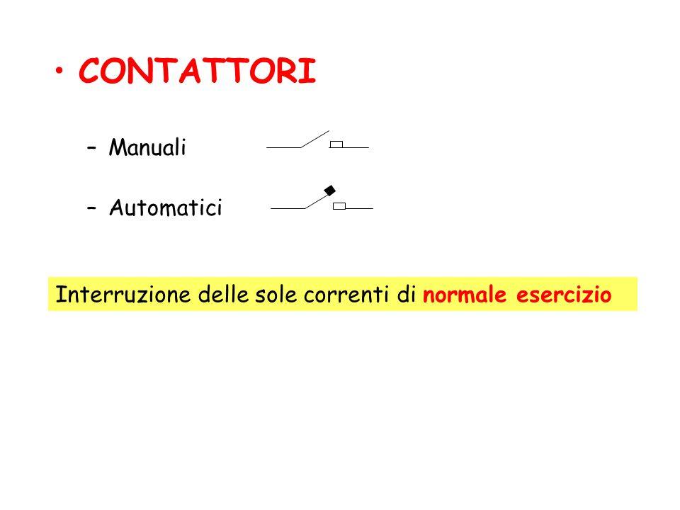 CONTATTORI Manuali Automatici