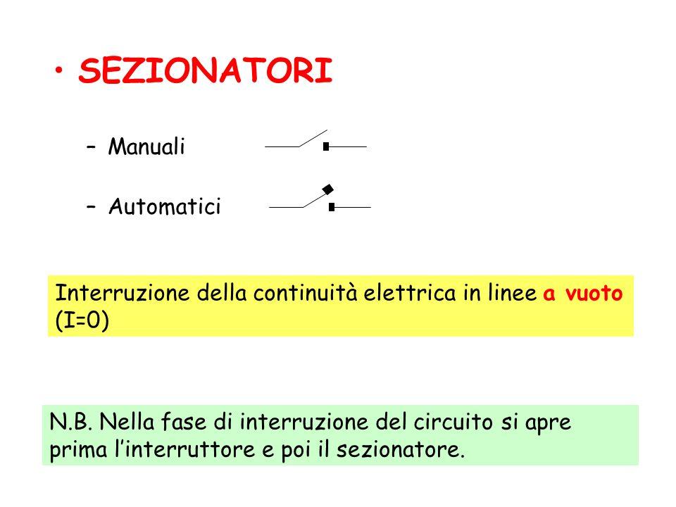 SEZIONATORI Manuali Automatici