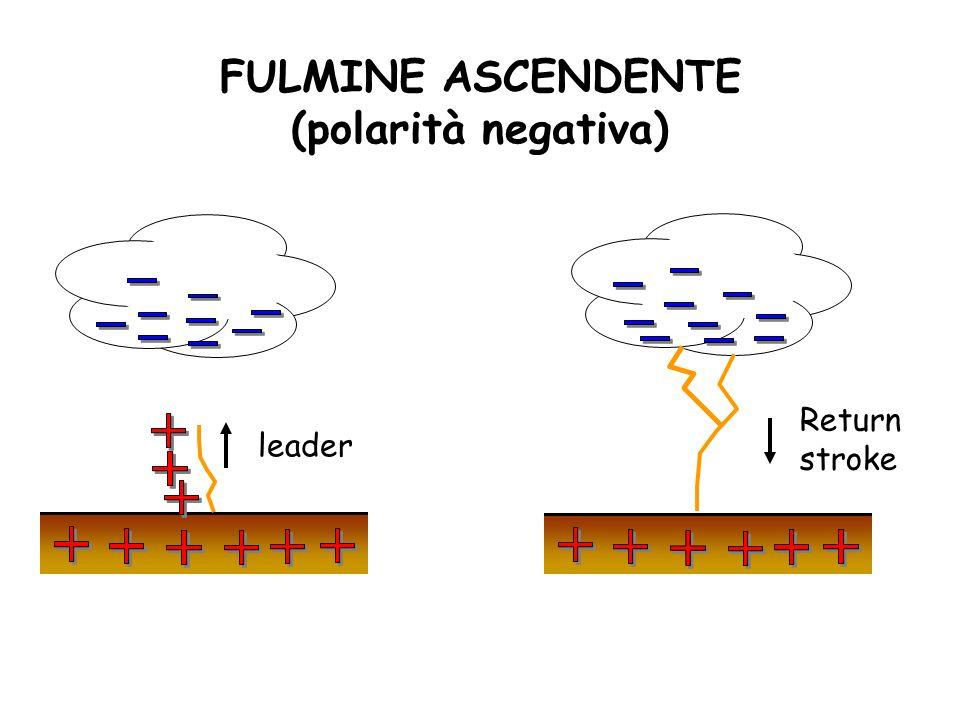 FULMINE ASCENDENTE (polarità negativa)