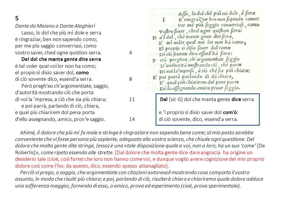 5 Dante da Maiano a Dante Alaghieri