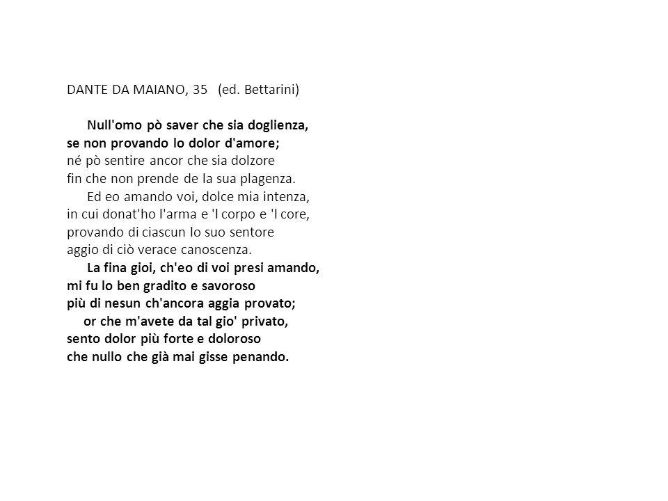 DANTE DA MAIANO, 35 (ed. Bettarini)
