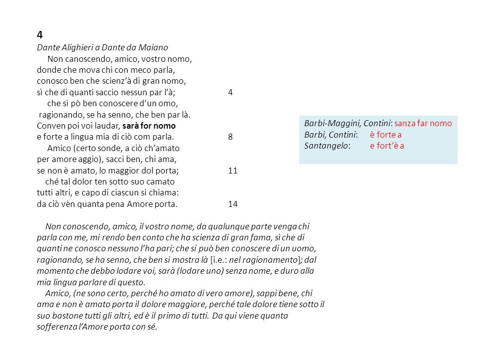 4 Dante Alighieri a Dante da Maiano