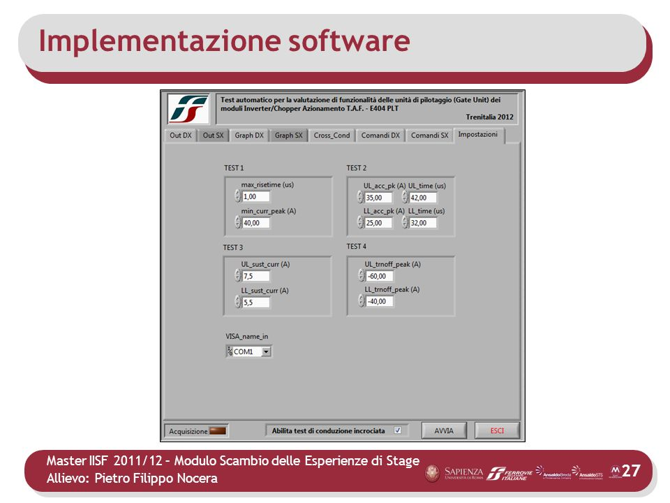 Implementazione software