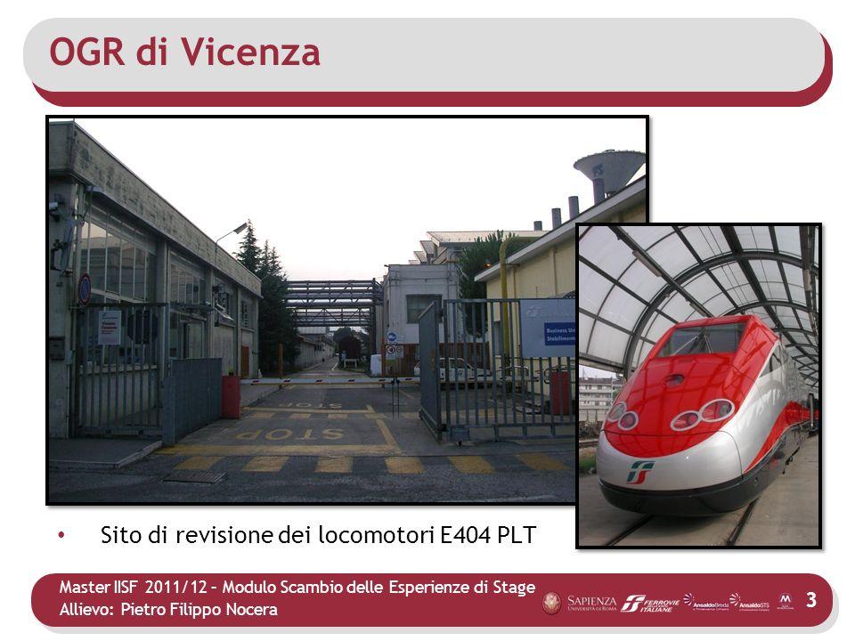 OGR di Vicenza Sito di revisione dei locomotori E404 PLT