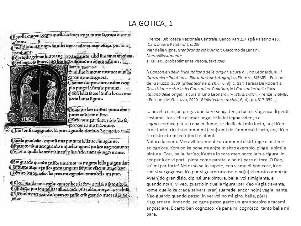 LA GOTICA, 1