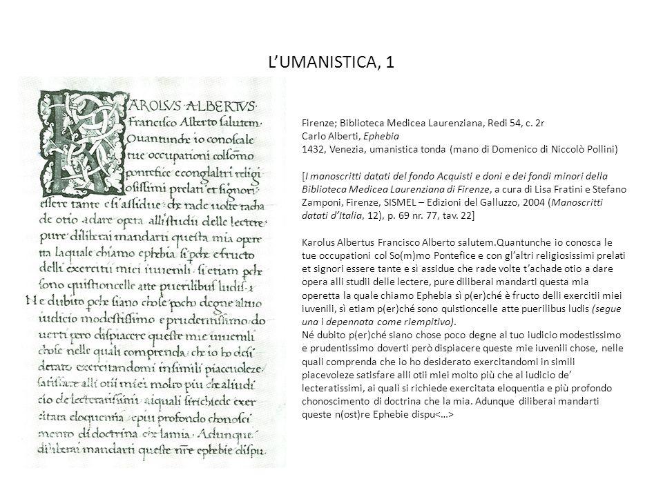 L'UMANISTICA, 1