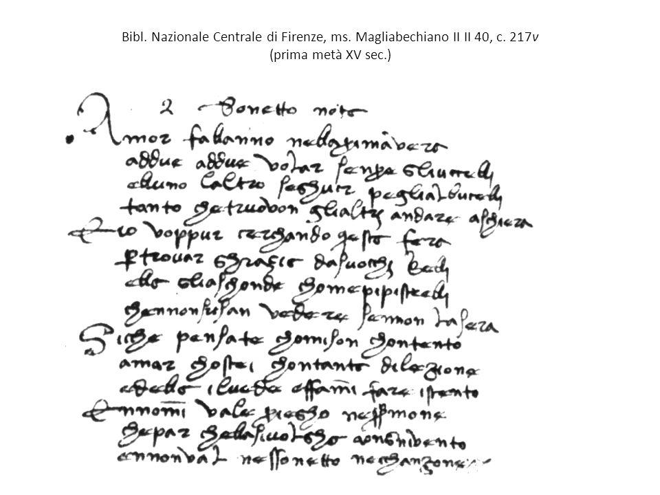 Bibl. Nazionale Centrale di Firenze, ms. Magliabechiano II II 40, c