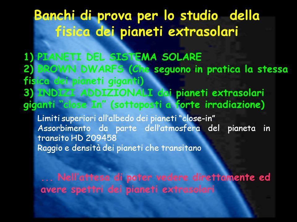Banchi di prova per lo studio della fisica dei pianeti extrasolari