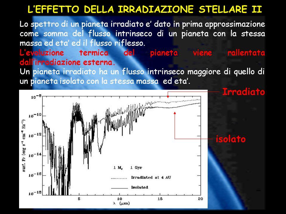 L'EFFETTO DELLA IRRADIAZIONE STELLARE II