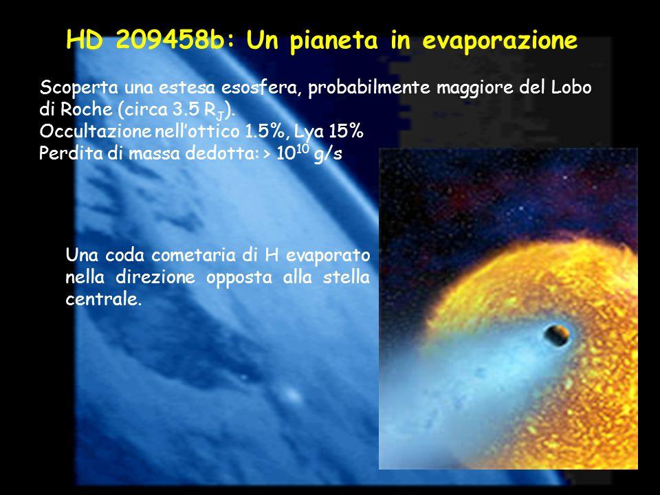 HD 209458b: Un pianeta in evaporazione