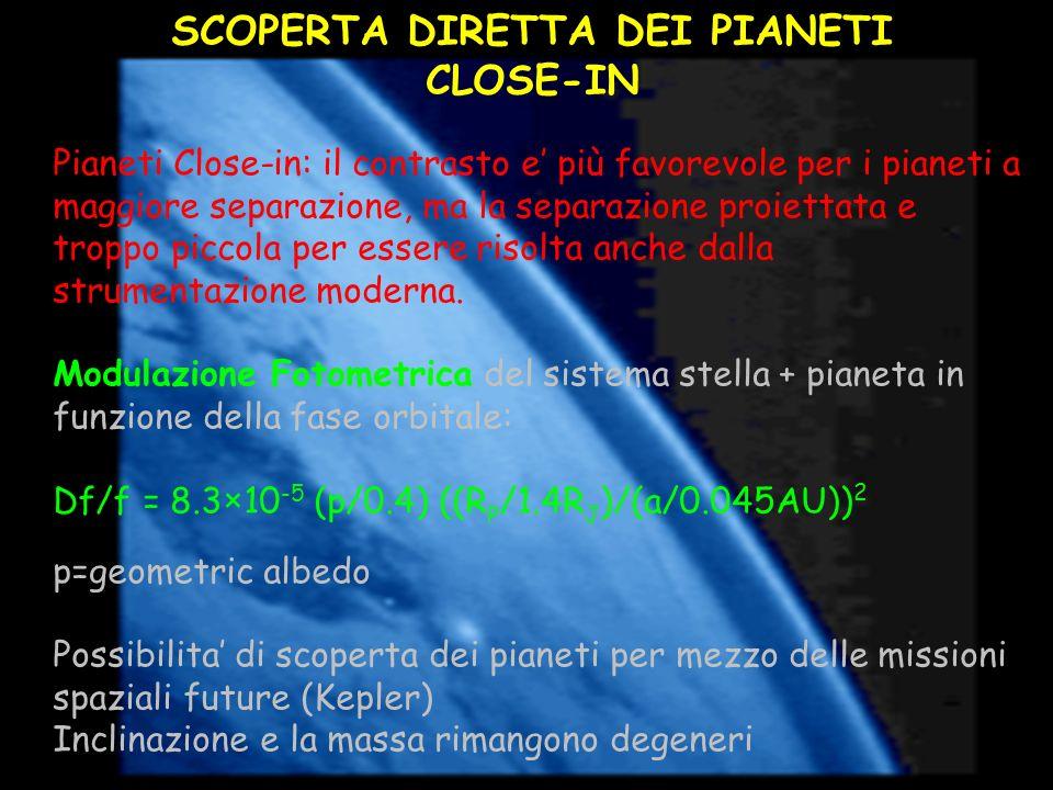 SCOPERTA DIRETTA DEI PIANETI CLOSE-IN