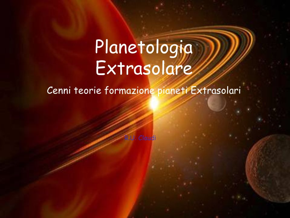 Planetologia Extrasolare