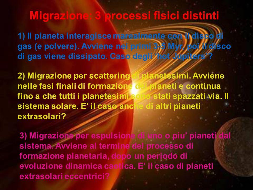 Migrazione: 3 processi fisici distinti