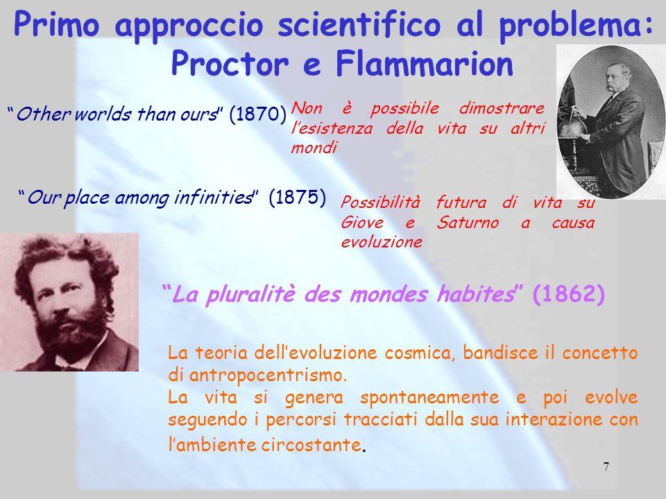 Primo approccio scientifico al problema: