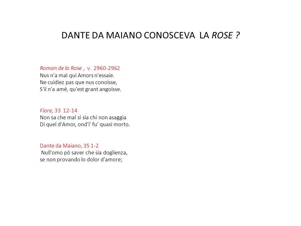 DANTE DA MAIANO CONOSCEVA LA ROSE