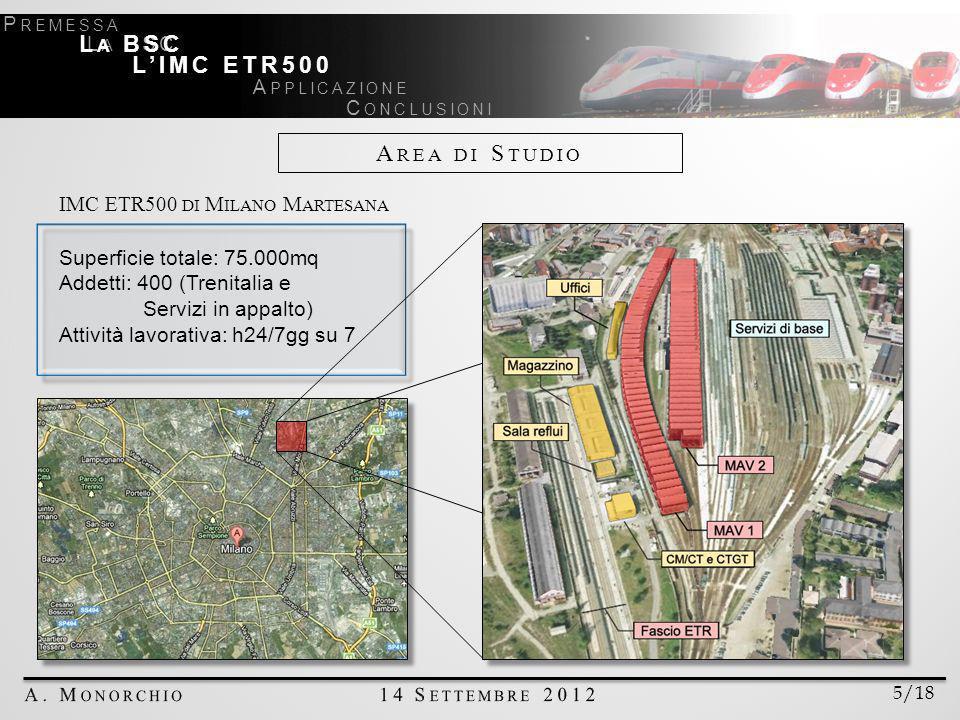 Area di Studio La BSC L'IMC ETR500 IMC ETR500 di Milano Martesana