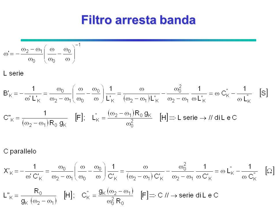 Filtro arresta banda