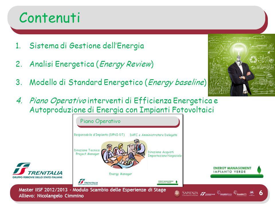 Contenuti Sistema di Gestione dell'Energia