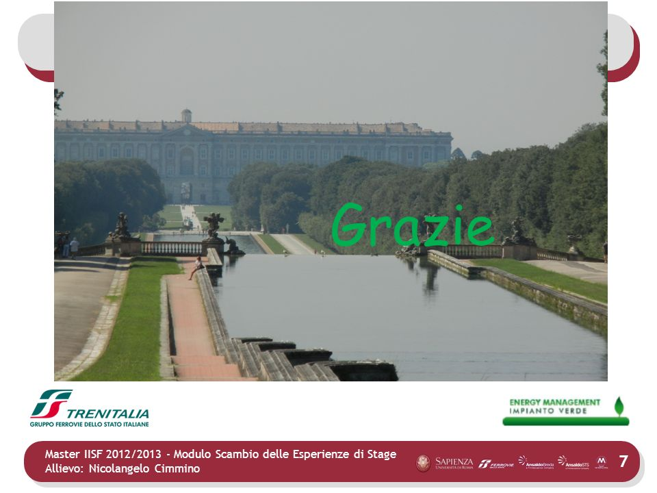 Grazie Master IISF 2012/2013 - Modulo Scambio delle Esperienze di Stage.