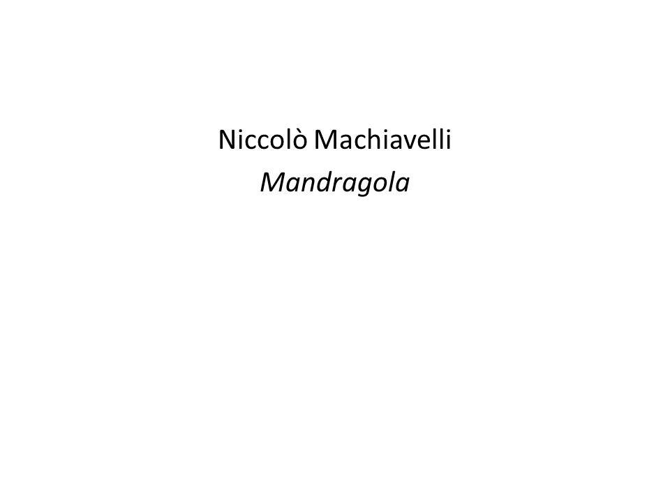 Niccolò Machiavelli Mandragola