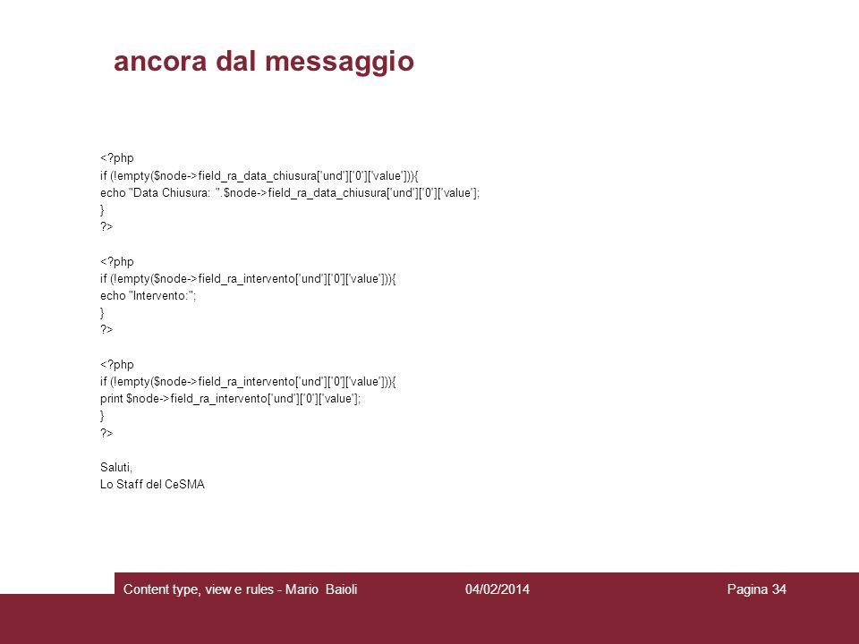 ancora dal messaggio Content type, view e rules - Mario Baioli