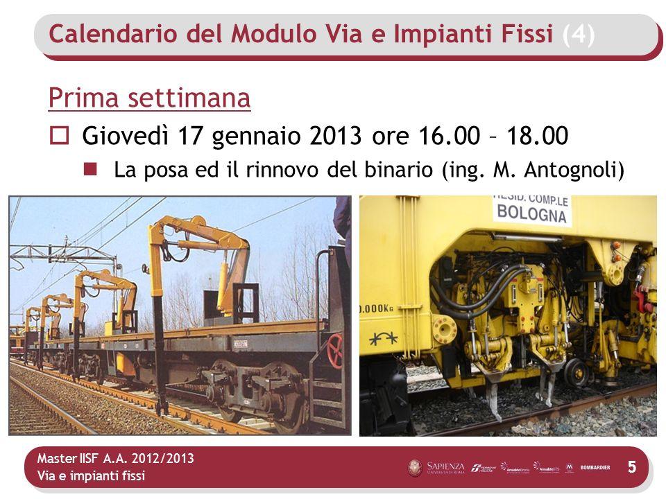 Calendario del Modulo Via e Impianti Fissi (4)