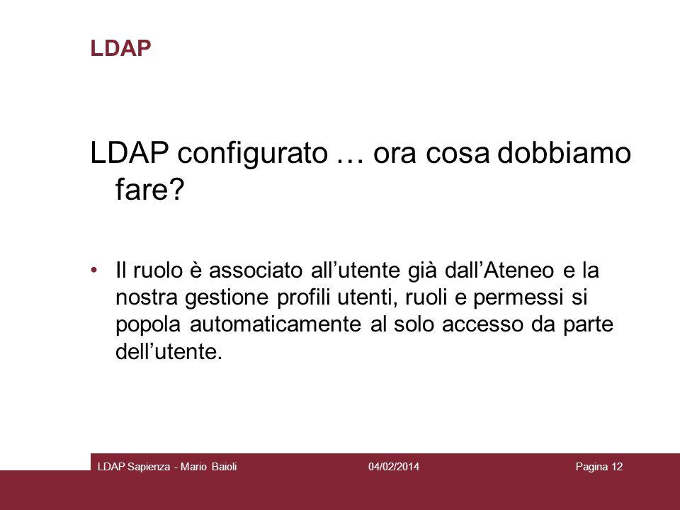 LDAP configurato … ora cosa dobbiamo fare