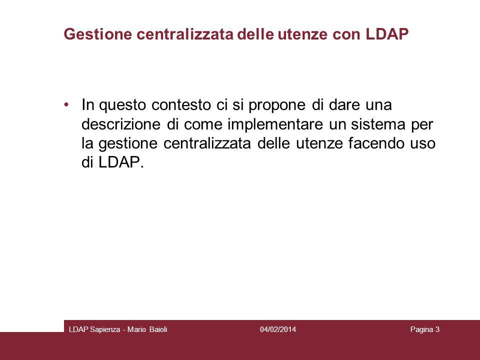 Gestione centralizzata delle utenze con LDAP