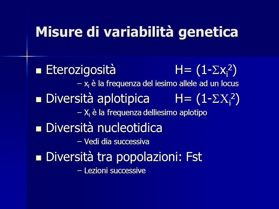 Misure di variabilità genetica