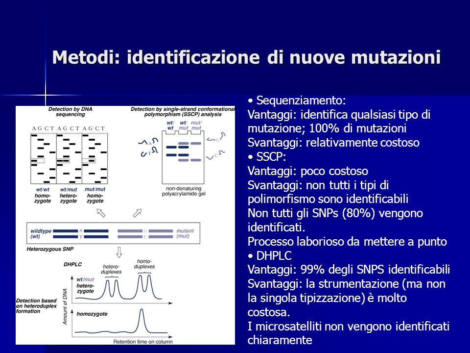Metodi: identificazione di nuove mutazioni