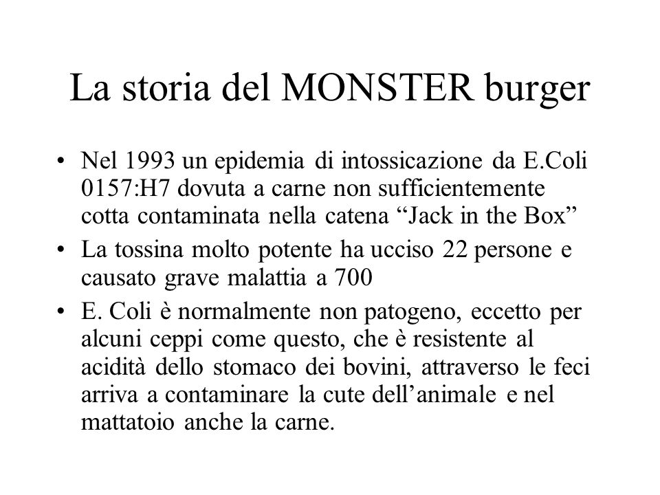 La storia del MONSTER burger