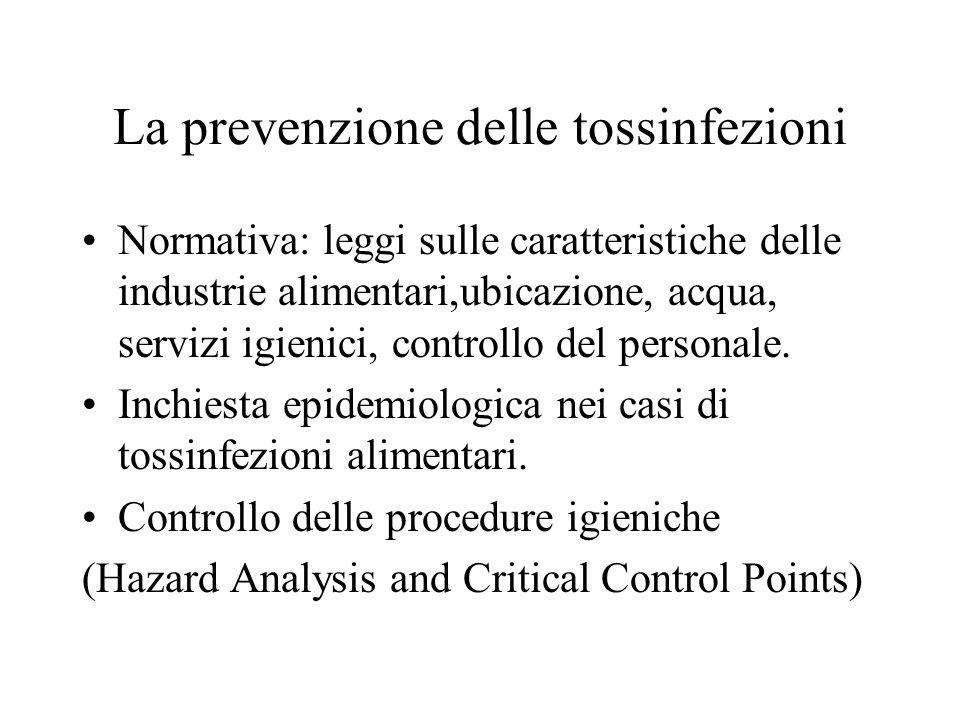 La prevenzione delle tossinfezioni